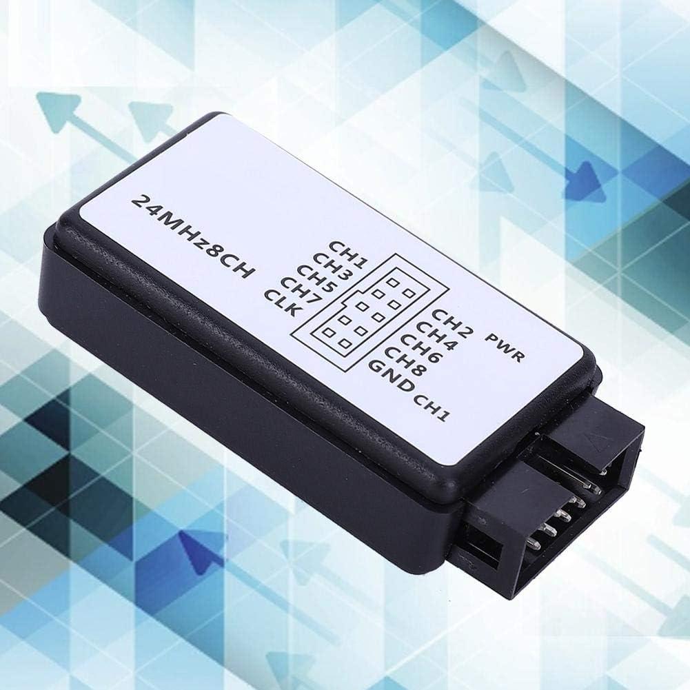 LA1002 Mini USB 5MHz 24M 8 Channel Logic Analyzer Device Set with Cables for Communications//Power//Computers//Automotive Electronics Logic Analyzer