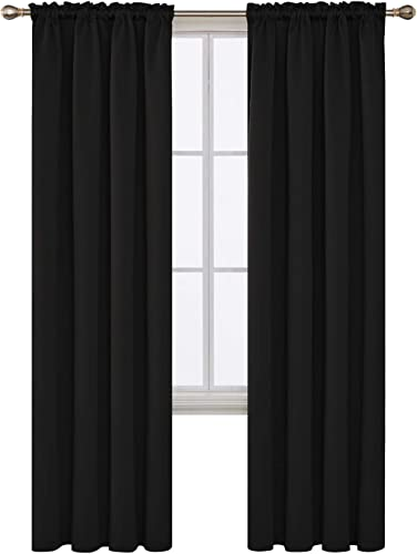 Deconovo Rod Pocket Blackout Curtain Room Darkening Thermal Insulated Window Panel Drape
