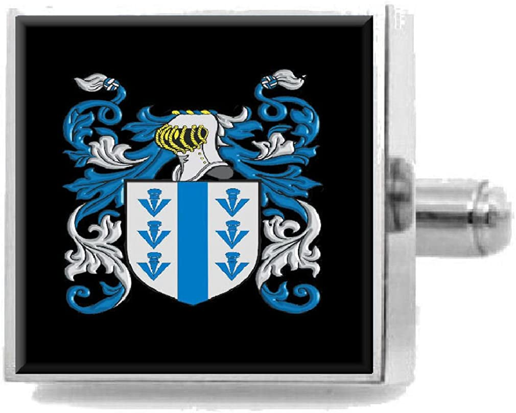 Select Gifts Barfield England Heraldry Crest Sterling Silver Cufflinks Engraved Box