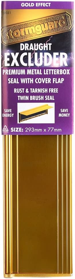 Gold Finish Letter Box Cover with Brush /& Flap for Internal OR External Use
