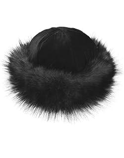 TEXTURE Ladies Women Lagenlook Faux Fur Band Suede Effect Mongolian Russian Winter Hat Gift