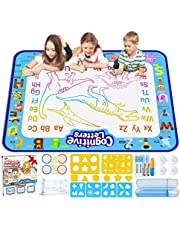 Jasonwell Aqua Magic Doodle Mat 100 x 80CM Extra Large Water Drawing Doodling Mat Coloring Mat Educational Gifts Toys for Kids Toddlers Boys Girls 3 4 5 6 7 Year Old