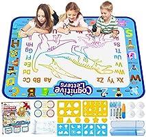 Jasonwell Aqua Magic Doodle Mat 40 X 32 Inches Extra Large Water Drawing Doodling Mat Coloring Mat Educational Toys Gifts...
