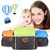 GrowRight Portable Multifunctional Baby Infant Travel Booster Seat / Shoulder Backpack Diaper Bag - (Green)