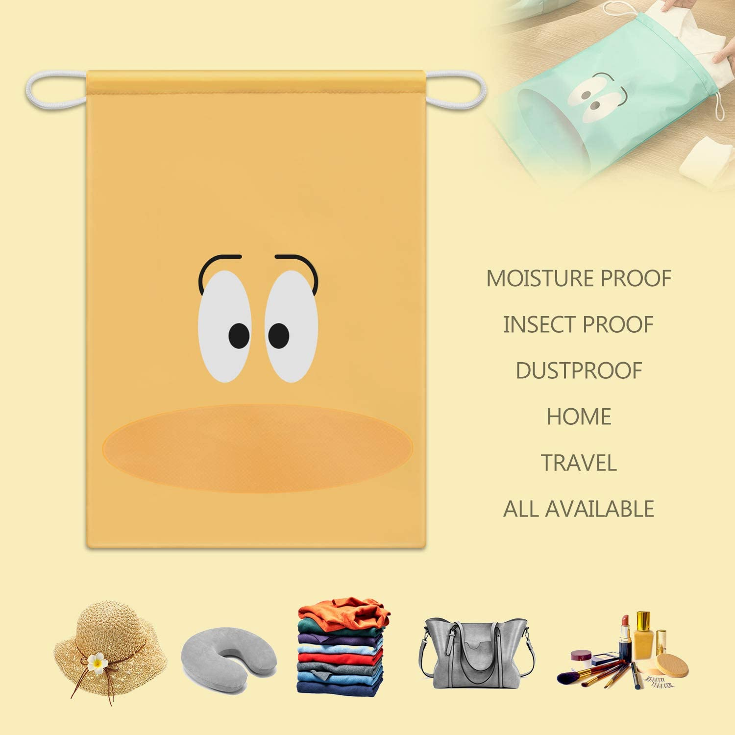 Angry Ox Drawstring Portable Storage Shoe Outdoor Travel Bag Dustproof Gift Bags