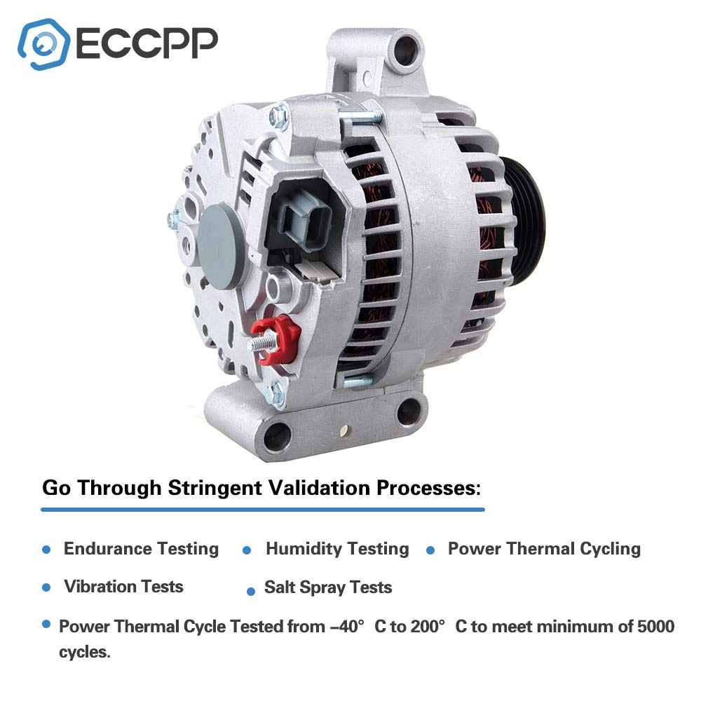 ECCPP Replacement fit for Alternators 110A IR//IF 7796 Ford Excursion 2000 2001 F-Series Pickups F-450 F-550 1999-2001 7.3L 400-14092 7796