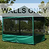 ABCCANOPY Silver Coated Screen Wall Mesh Screen House Zippered Wall Panels for 10' x 10' Canopy (Forest Green)