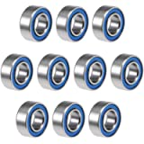 uxcell MR84-2RS Deep Groove Ball Bearings 4mm Inner Dia 8mm OD 3mm Bore Double Sealed Chrome Steel Blue Seal Z2 10pcs