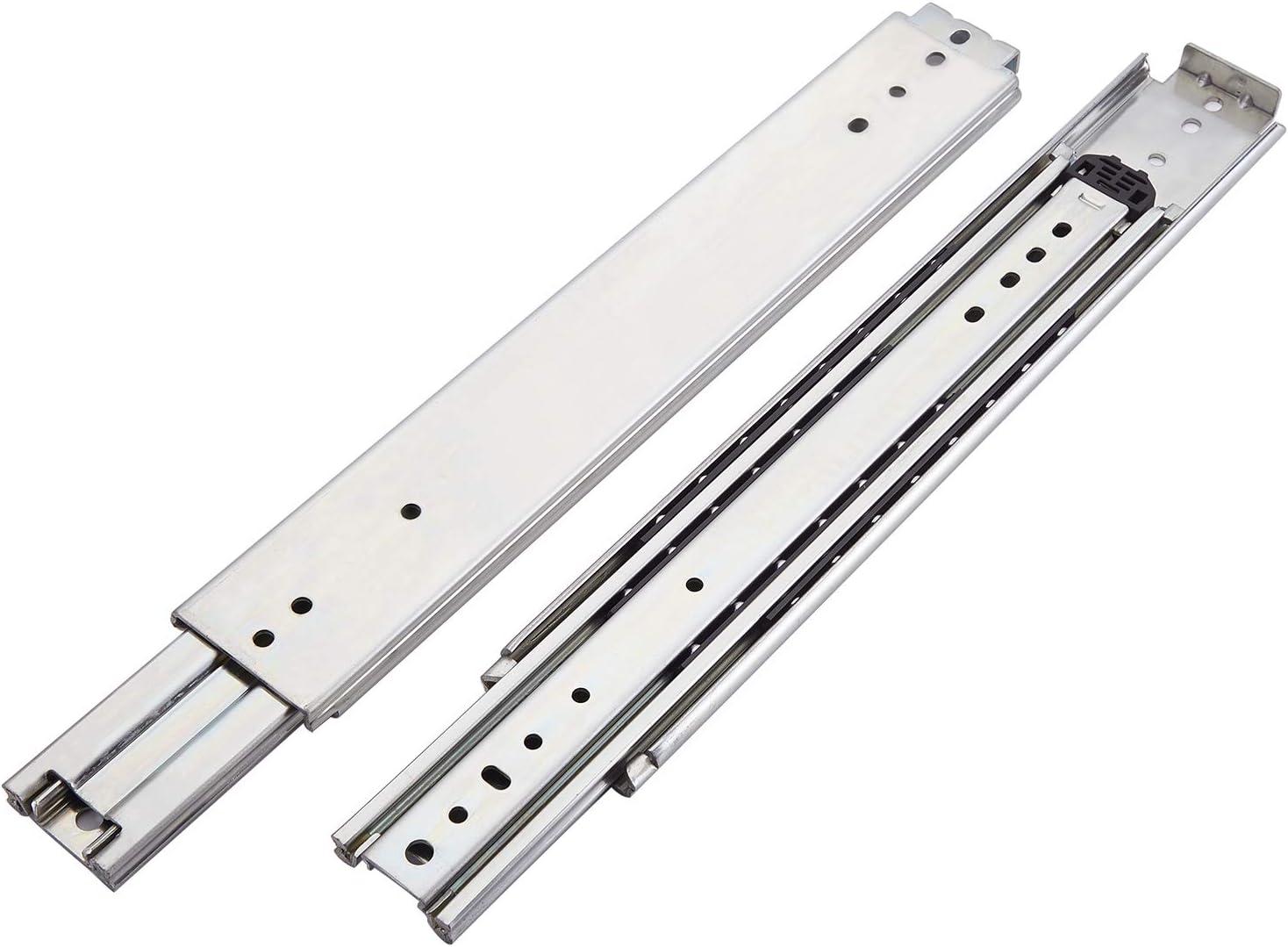 VAPSINT 1 Pair 28 Inch 500LB Capacity Full Extension Ball Bearing Heavy Duty Drawer Slides,3 Fold Slide Mount Drawer Slides Cabinet Rails,Available in 18'',20'',28'',32'',36'' Lengths