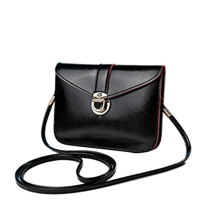 Image Unavailable. Image not available for. Color  Outtop MINI Messenger  Bag Cross Body Hobo Handbag Tote Bags for Women Girl (Black) 5af42634a2