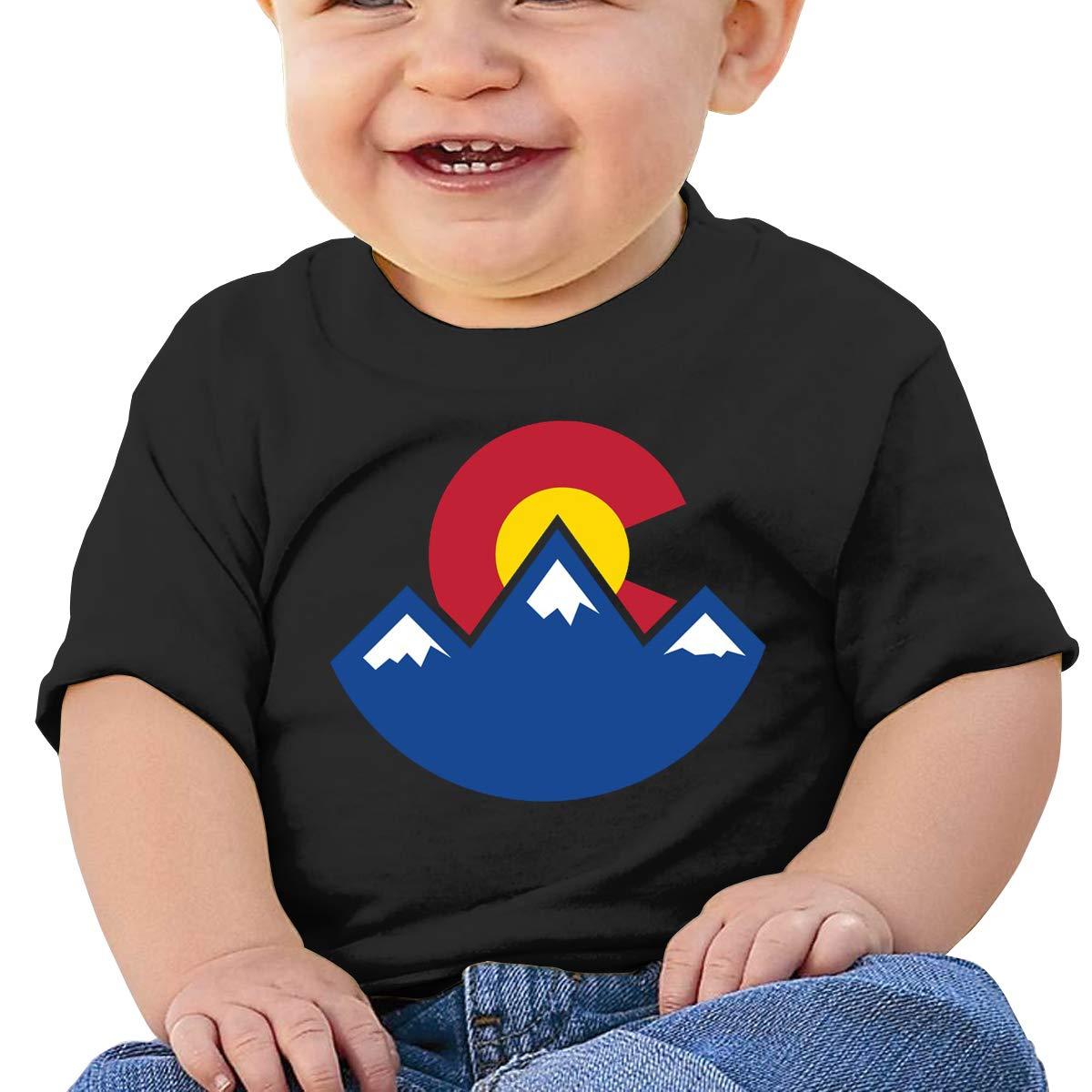 SakanpoColorado Sunset Toddler//Infant Short Sleeve Cotton T Shirts Black