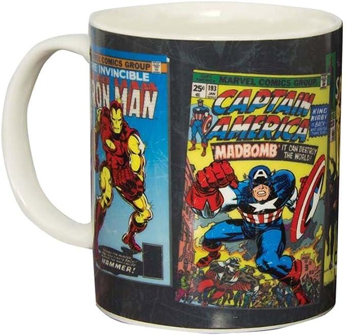 Paladone Taza Marvel Comics, Cerámica, Multicolor, 12x9x9 cm: Amazon.es: Hogar
