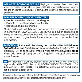 Api Pond Ecofix Sludge Destroyer Pond Water Clarifier & Sludge Remover Treatment 64-ounce Bottle 7