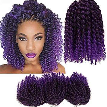 human braiding hair purplr
