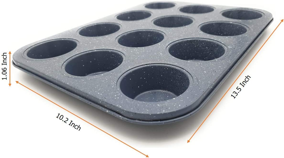 Muffin Tray to Make cupcakes Yorkshire Pudding and Baking. 1 12 Cup Muffin Tray Non-Stick