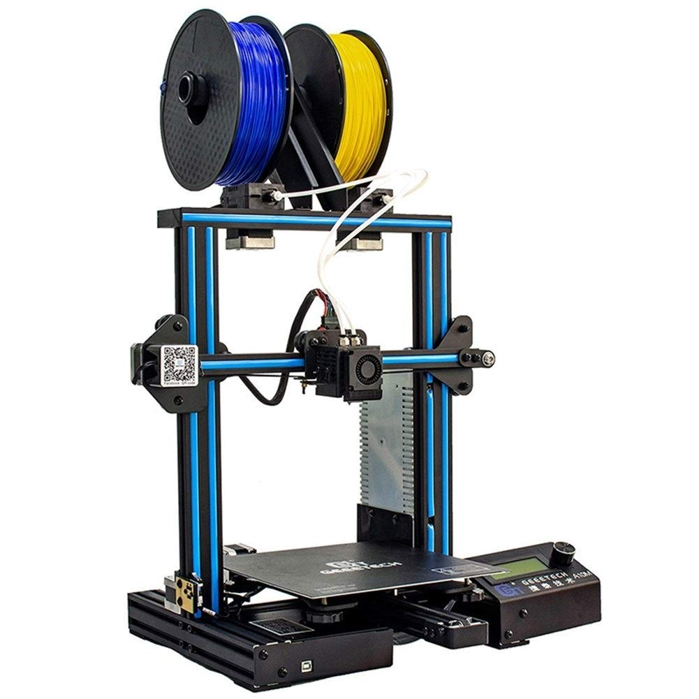 Betty Geeetech A10M Mix-Color 3D Printer The Original Removable Aluminum Frame 220 X 220 X 260mm A Three-Dimensional Size : US Plug