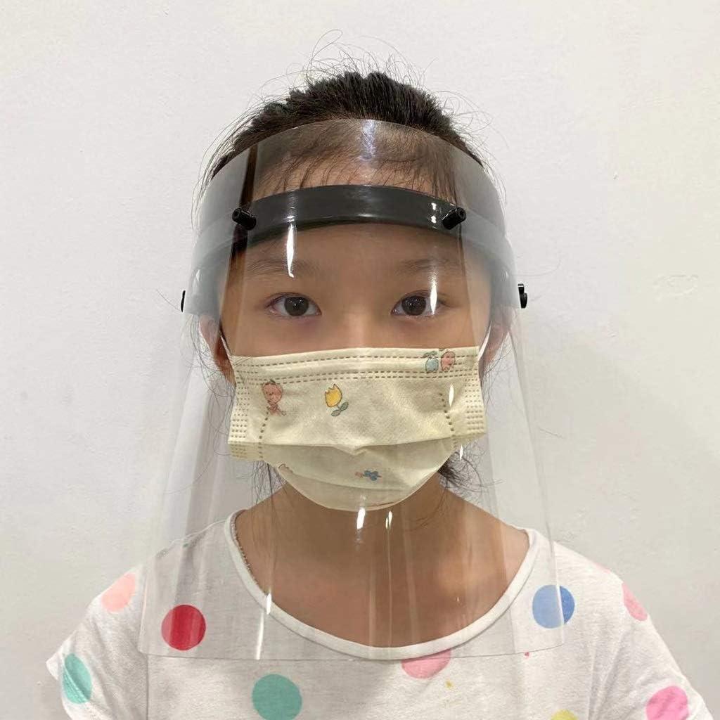 Prevenir La Saliva Entre En Los Ojos Ajustable Adecuados For La M/áscara De Ni/ños Y Adultos Polvo Lgan M/áscara Protectora Transparente