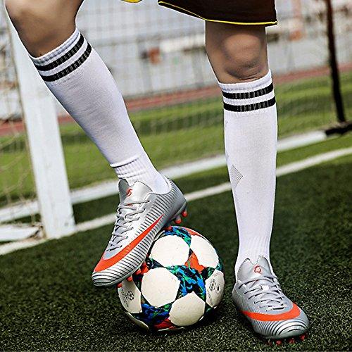 Entrainement Ag Chaussures Antidérapant Adulte Profession A Enfant Chnhira Athlétisme Spike Adolescents Football eu35 Crampons Argent 45 Top High De Homme ZwXxqd