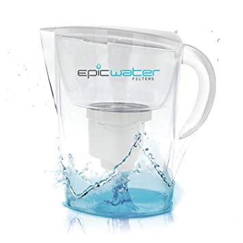 epic pure water filter jug | white | 3.5l | 100% bpa-free | removes ...