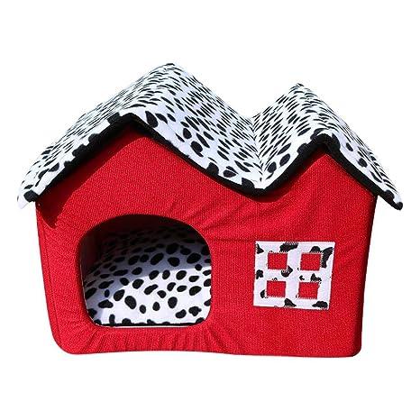 D - Caseta extraíble y Lavable para Cuatro Estaciones, para Mascotas, Gatos
