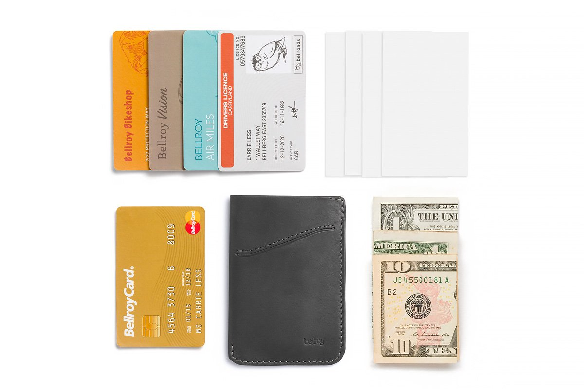 Bellroy Leather Card Sleeve Wallet Arctic Blue