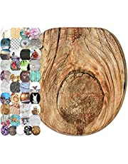 Sanilo Round Toilet Seat, Wide Choice of Slow Close Toilet Seats, Molded Wood, Strong Hinges (Rustic)
