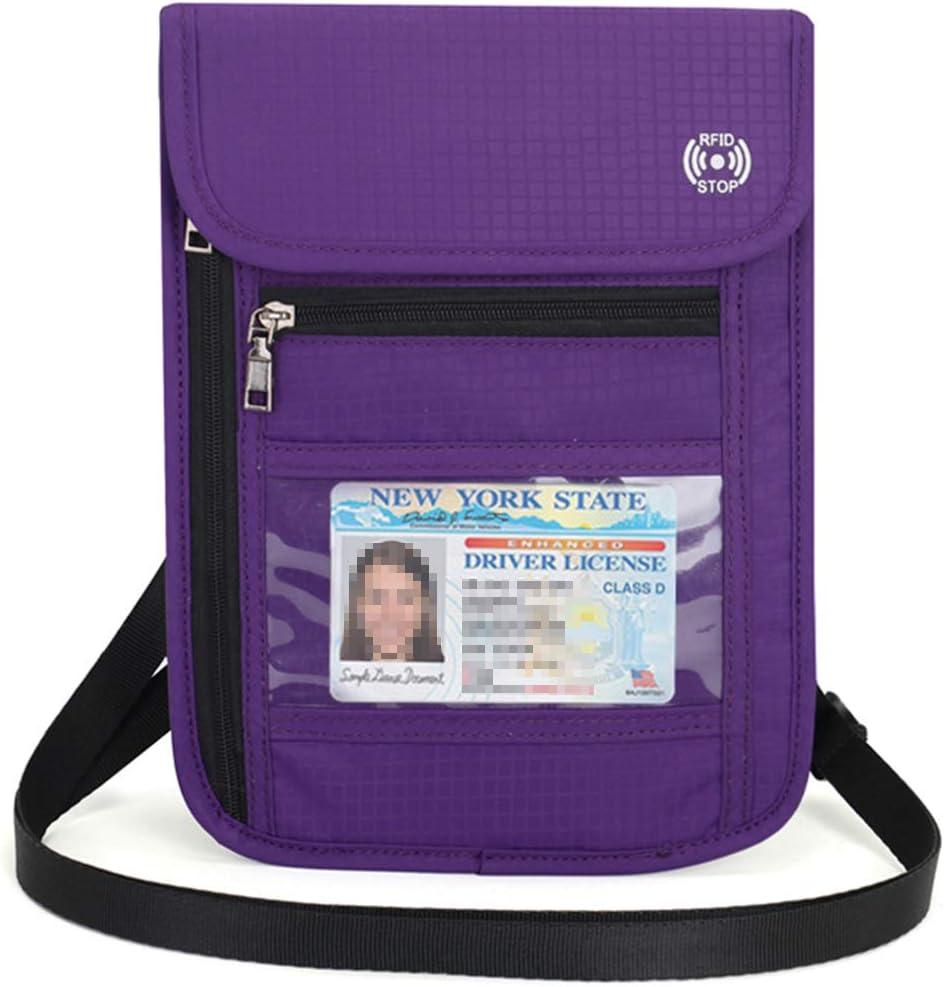 vol pour//Passeport//Papiers didentit/é//Cartes Bancaires//Billet//Monnais//Document-Neuf MMY-Pochette de Voyage avec Porte Passeport avec bloqueur RFID Anti Bleu