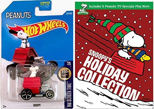 Snoopy's Holiday Collection DVD & Hot Wheels Snoopy - Charlie Brown Christmas - Red Baron car DVD Animated Cartoon Movie -
