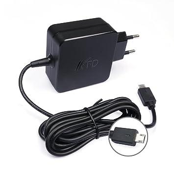 KFD Adaptador Cargador Portátil para ASUS Eeebook E200HA E202SA R209H X205 X205T X205TA F205TA X206HA E205SA ADP-33AW B, T100Ha TP200S TP200SA ...
