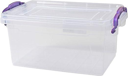 Caja 3 L Lagerbox Box con tapa, 11,5 x 26 x 17 cm cajas: Amazon.es: Hogar