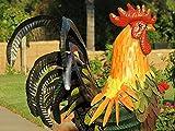 Outdoor / Indoor Accent Metal Rooster Figurine Statues Decor 32 inch