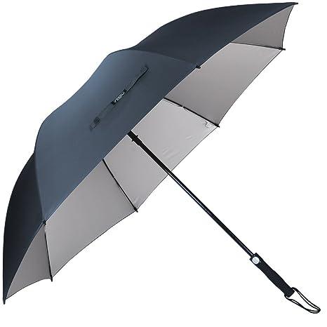 G4Free resistente al viento Golf Paraguas, negro ligero 60 cm doble dosel paraguas de Golf