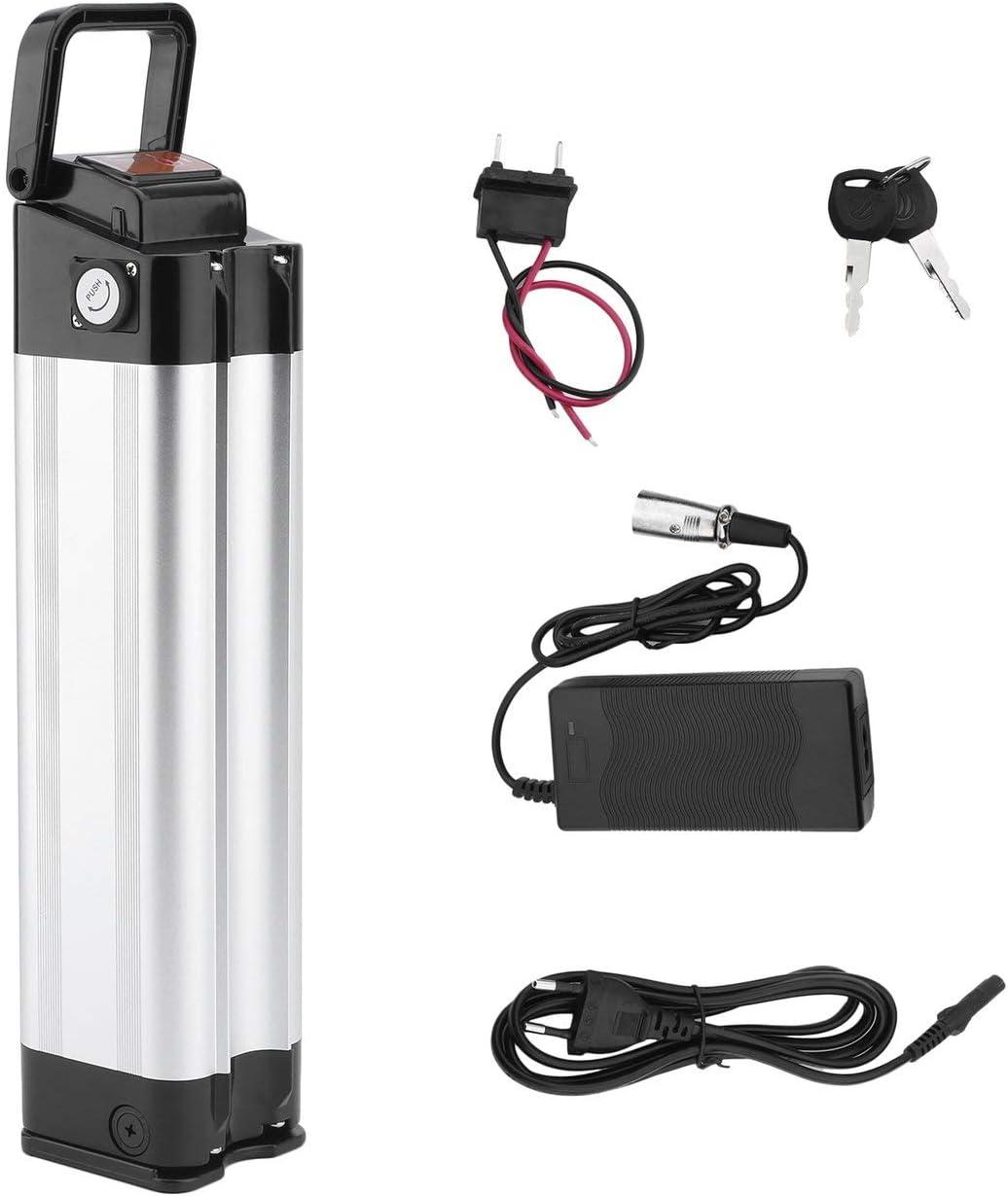 Pudincoco Batería de Bicicleta eléctrica 36V 10AH 360W E-Bike Batería de Iones de Litio con Cargador Kit de conversión de Bicicleta eléctrica de Alta Potencia