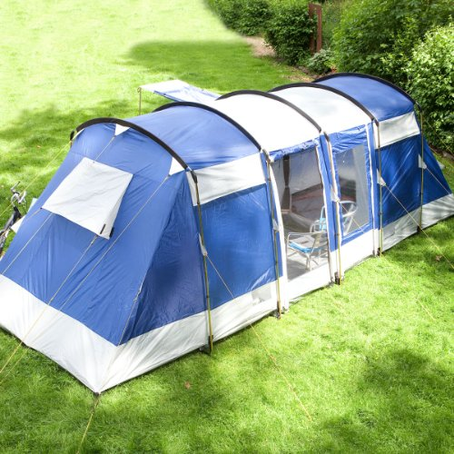 Skandika Montana Family Group Tunnel Tent with Sun Canopy 2 Sleeping Cabins 200 cm Peak Height 5000 mm Water Column Blue 6-Person Amazon.co.uk Sports ... : skandika tent - memphite.com