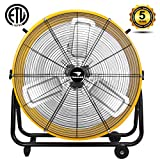 Tornado - 24 Inch High Velocity Air Movement Heavy Duty Metal Drum Fan