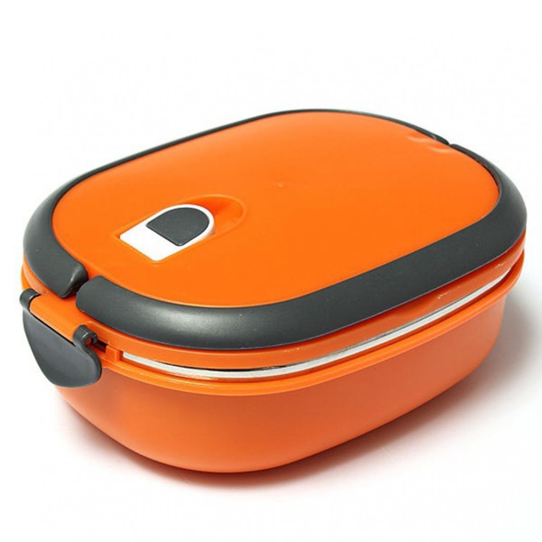 Salvagoccia in acciaio INOX isolato Bento lunch box contenitore di alimento Storage box per adulti e bambini 1 Layer Blue Brussels08