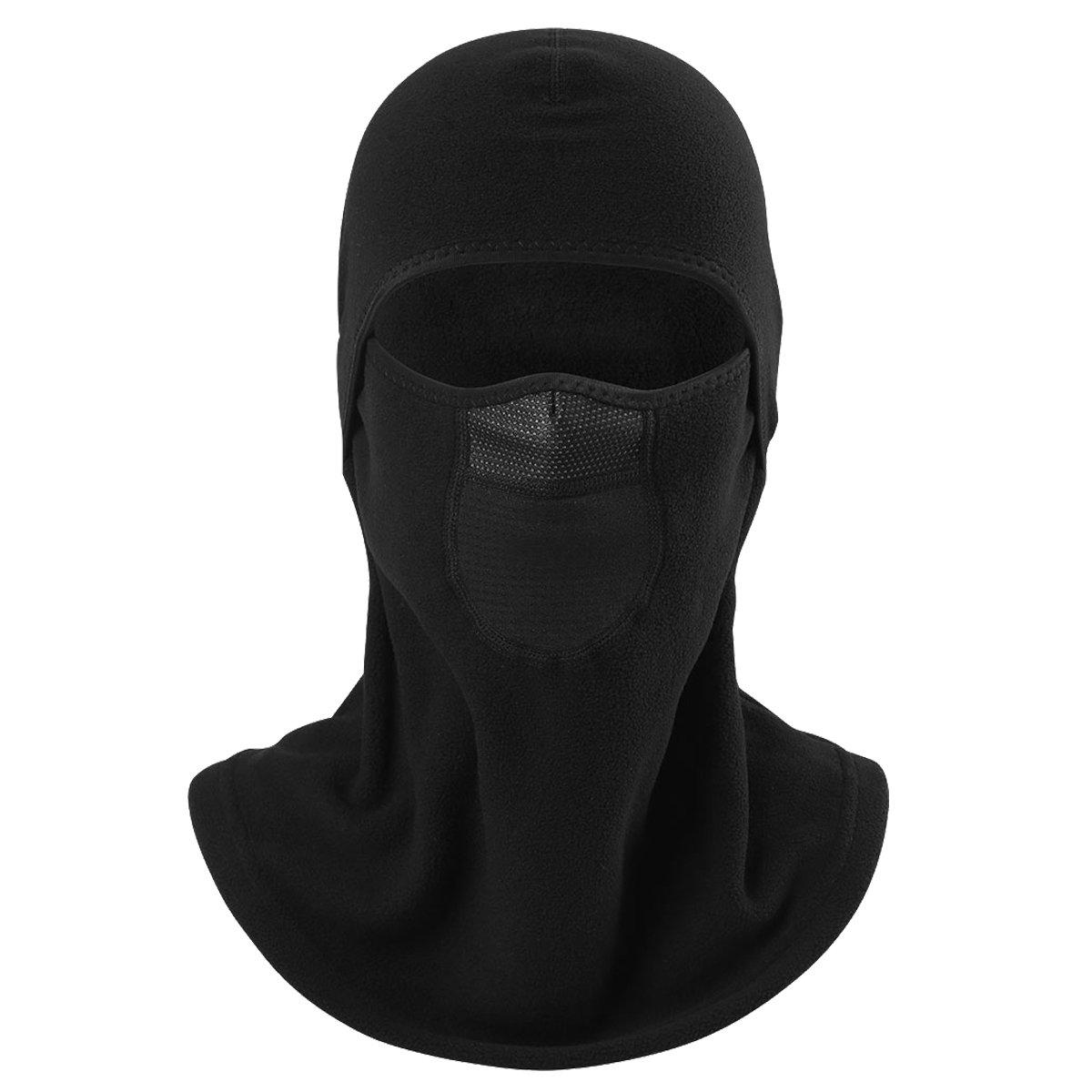 ECYC Outdoor Black Balaclava Mask Winter Waterproof Fleece Thermal Neck Warmer Full Face Masks Tactical Mask