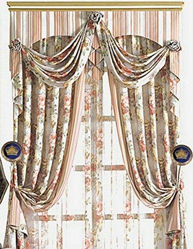 Copper Curtain Wall : Elecharm pair embroidery crown drapery medallion holdback