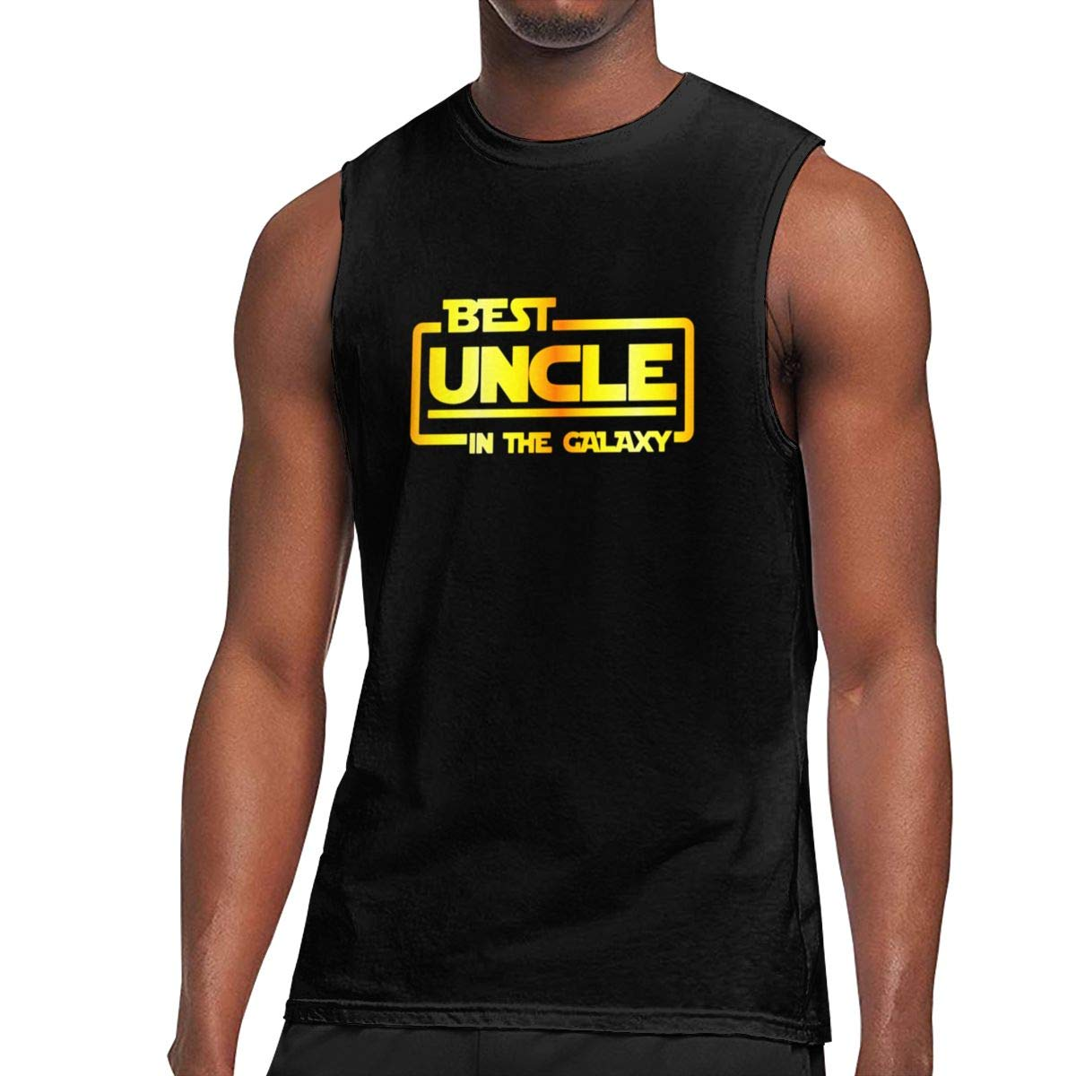 Best Uncle in The Galaxy Vest Sleeveless T-Shirts Fit Mens Muscle