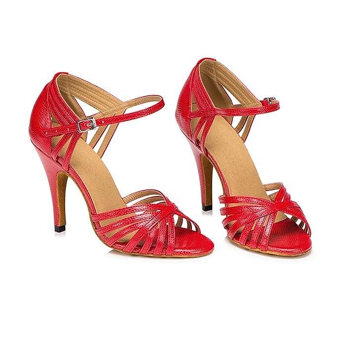 Meijili - Femmes Chaussures De Danse, Rouge, Taille 40