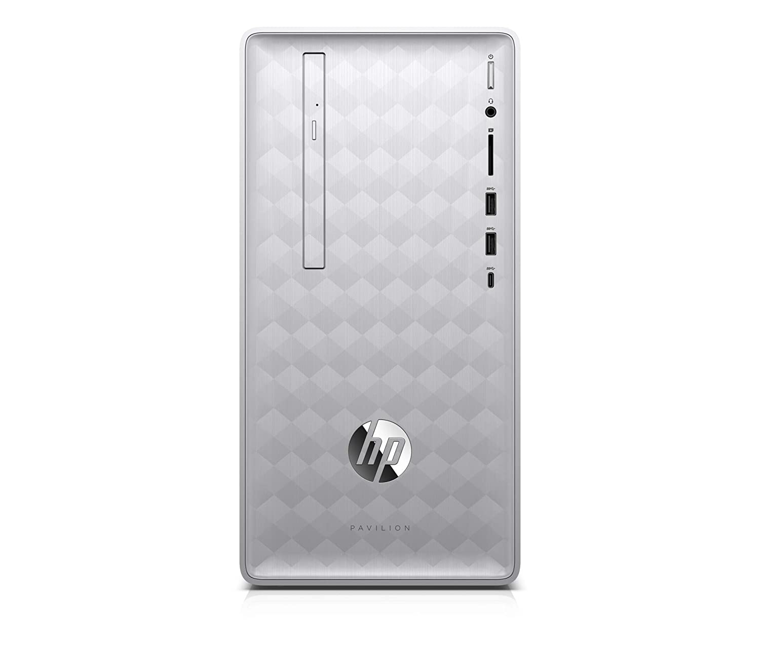 HP Pavilion 590-p0633ng 3,5 GHz AMD Ryzen 3 2200G Plata, Negro Mini Tower PC - Ordenador de sobremesa (3,5 GHz, AMD Ryzen 3, 8 GB, 1128 GB, DVD±RW, FreeDOS)