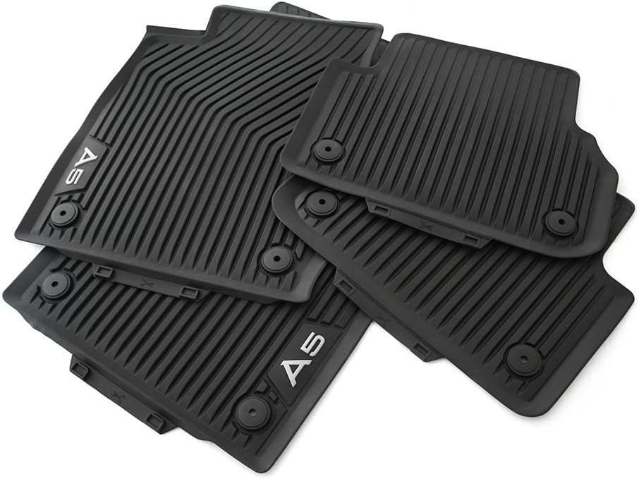 Original Audi A5 Typ B9 F5 Sportback Gummi Fußmatten Gummimatten V H Allwettermatten 4 Teiliger Komplettsatz Schwarz Auto