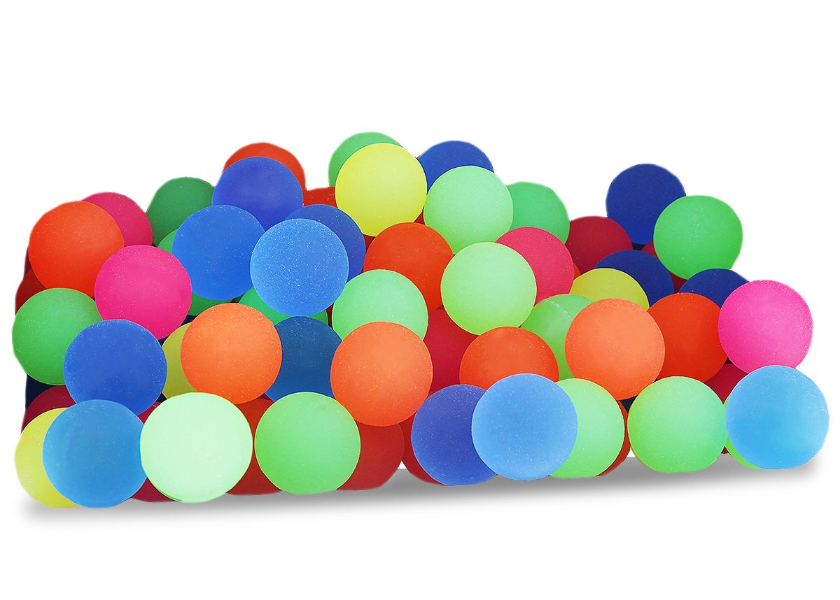 Juvale Bouncy Balls Bulk Set - Assorted Colorful Neon Bright Solid Colors - High Bouncing Balls Bulk Kids Playtime, Party Favors, Prizes, Birthdays & More! - Pack of 100, 2.3cm