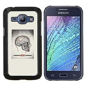 """Be-Star Único Patrón Plástico Duro Fundas Cover Cubre Hard Case Cover Para Samsung Galaxy J1 / J100 ( Cráneo gris Anatomía Cerebral Médico"""" )"""