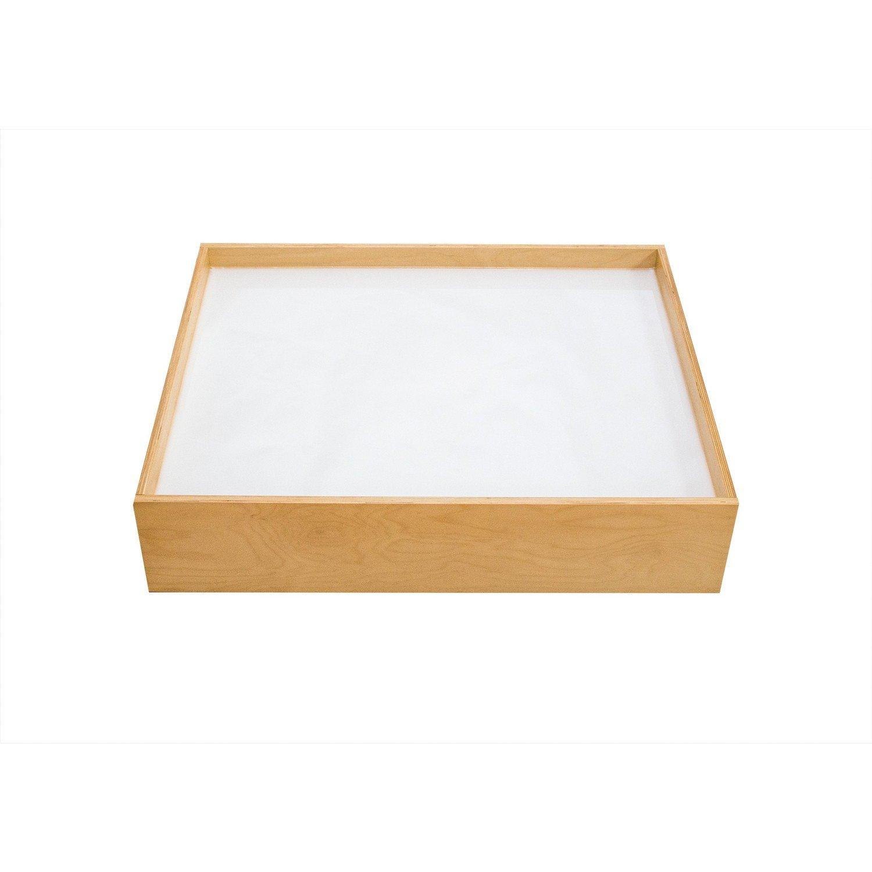 EDUPLAY 110267 Leuchtsandkasten, natur/weiß (1 Stück)