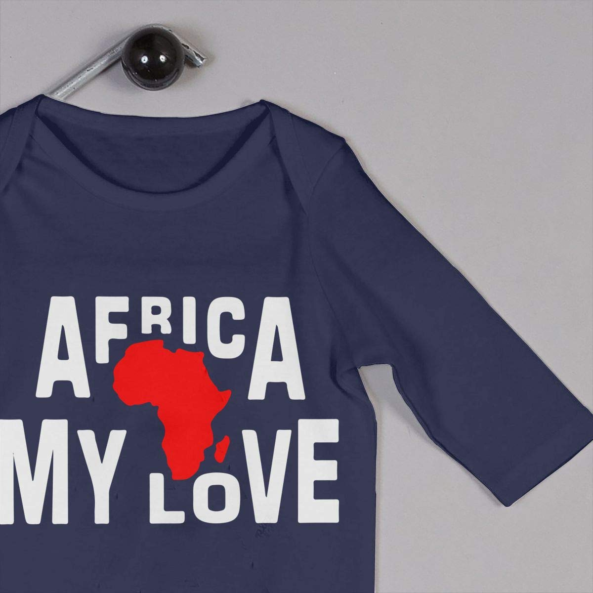 Newborn Baby Bodysuits Africa My Love Infant Long Sleeve Romper Jumpsuit