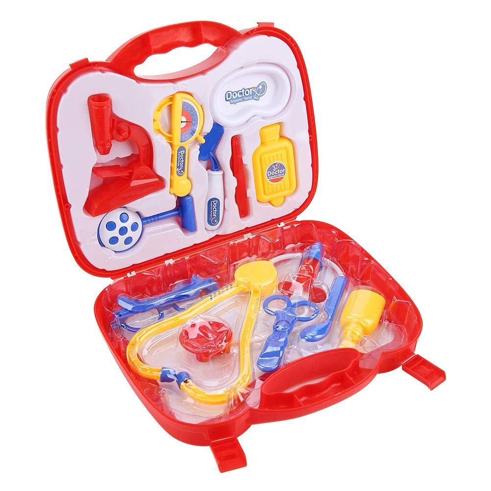 Toy Doctor Kit, Kit de Jeu de rôle de Docteur Semblant Kit de Jouets pour Enfants Doctor Medical Set(Pourpre)