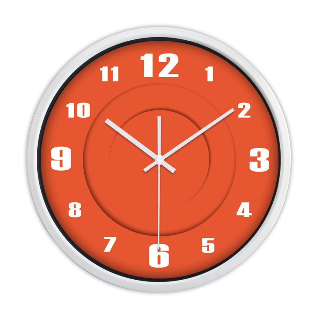 LINGZHIGAN パーソナリティ時計モダンクリエイティブファッションシンプルなオレンジの居間の壁時計ミュート腕時計クォーツ時計 ( 色 : 白 , サイズ さいず : 14 inches ) B07BT5PBSR 14 inches 白 白 14 inches