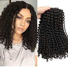 Lady Miranda Pure Color Afro kinky Curly Braiding Hair Extensions Jerry Curl Crochet Hair 3X Braid Hair Short Synthetic…