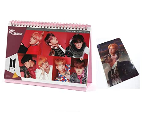 BTS Bangtan Boys 2019 2020 year desk Calendar with Special Lenticular and Stickers